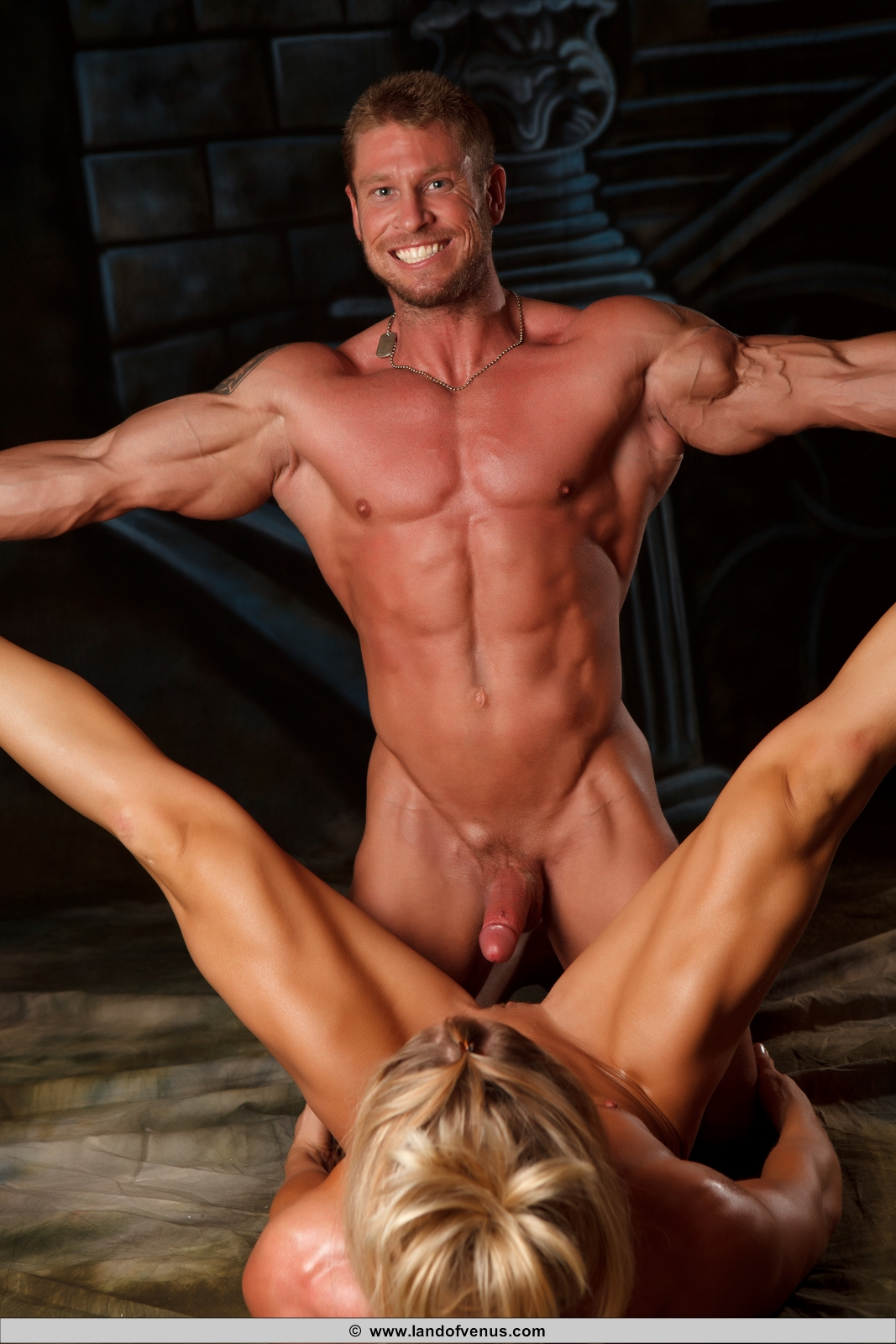 Bodybuilder having sex