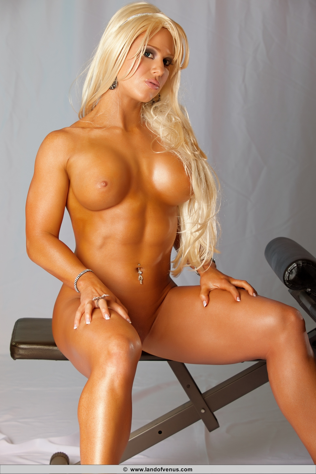 female fitness competitor naked