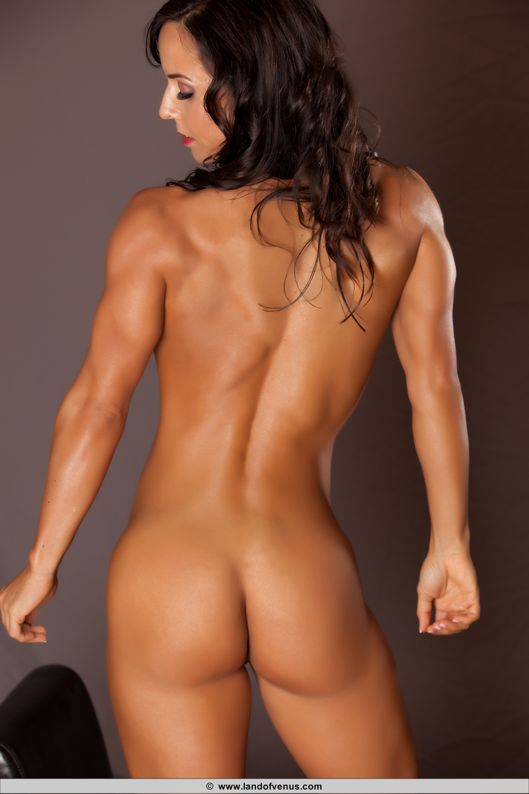 Female fitness model naked nude